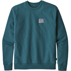 Patagonia Shop Sticker Patch Uprisal Crew Midlayer Herrer petroleumsgrøn